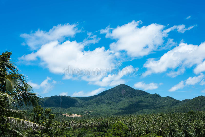 Beautiful tropical landscape from view point of Koh Phangan, Thailand royalty free stock photo