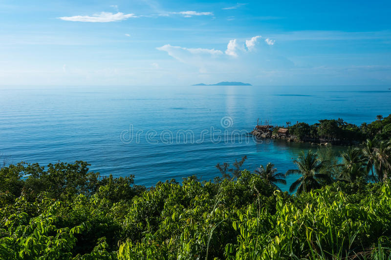 Beautiful tropical landscape from view point of Koh Phangan royalty free stock photo