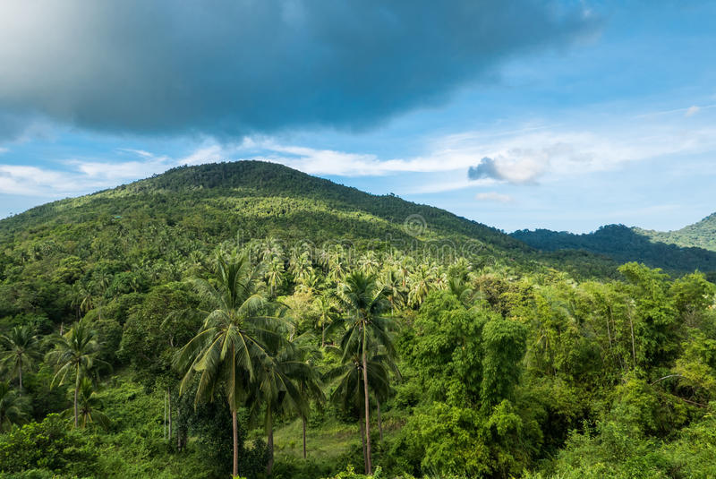 Beautiful tropical landscape from view point of Koh Phangan stock photo