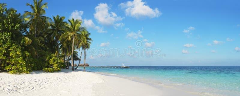 Beautiful tropical panorama stock images