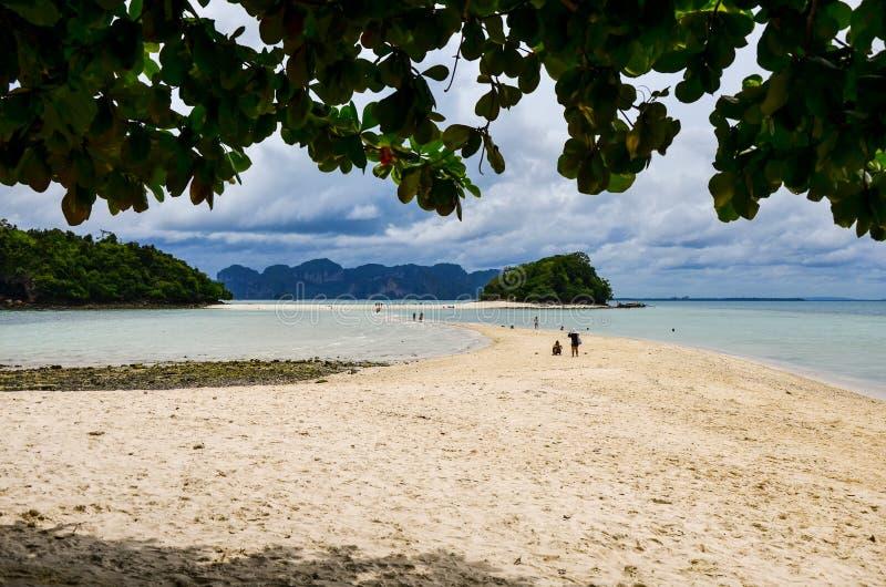 Beautiful tropical sand beach, Thale Waek, Krabi, Thailand stock image