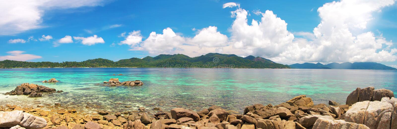 Beautiful tropical sea royalty free stock photo