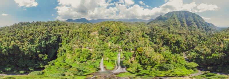 Beautiful tropical Sekumpul Waterfall in Bali, Indonesia.  stock image