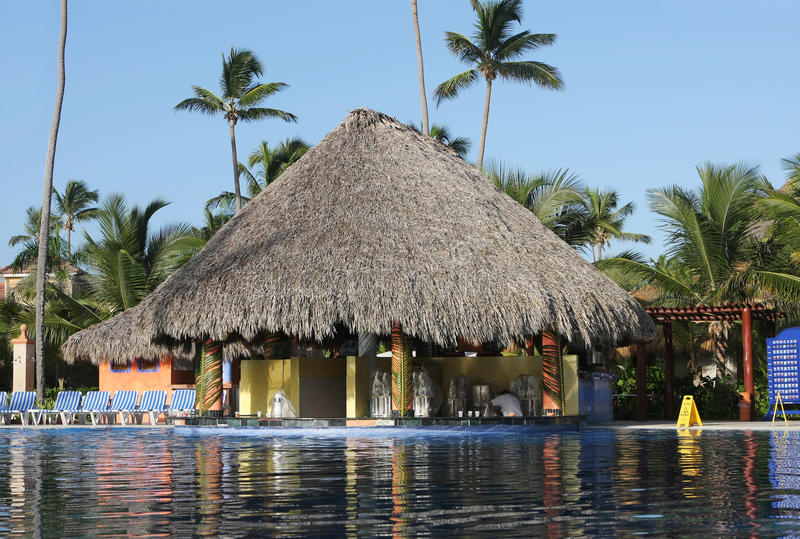 Download Beautiful Tropical Swimming Pool Stock Photo - Image of holiday, dominican: 13116382