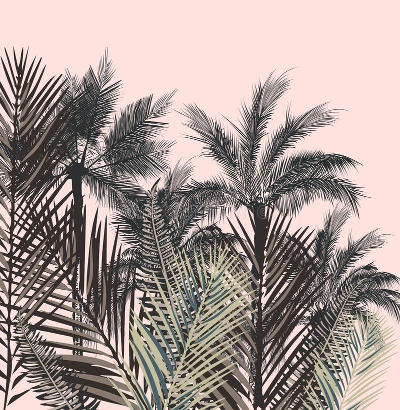 Beautiful tropical vector illustration stock illustration