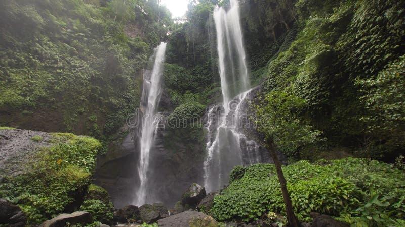 Beautiful tropical waterfall. Bali,Indonesia. royalty free stock image