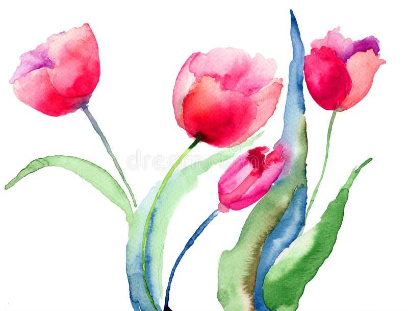 Download Beautiful Tulips flowers stock illustration. Image of image - 28640501