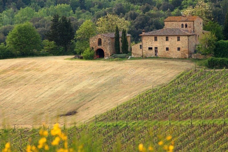 Beautiful Tuscan House royalty free stock photos