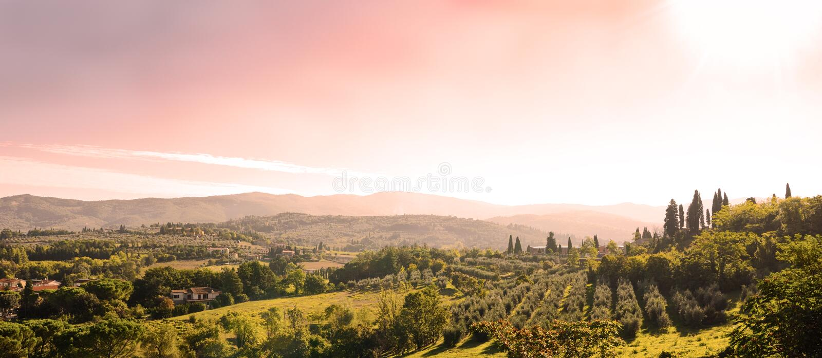 Beautiful tuscan landscape stock images