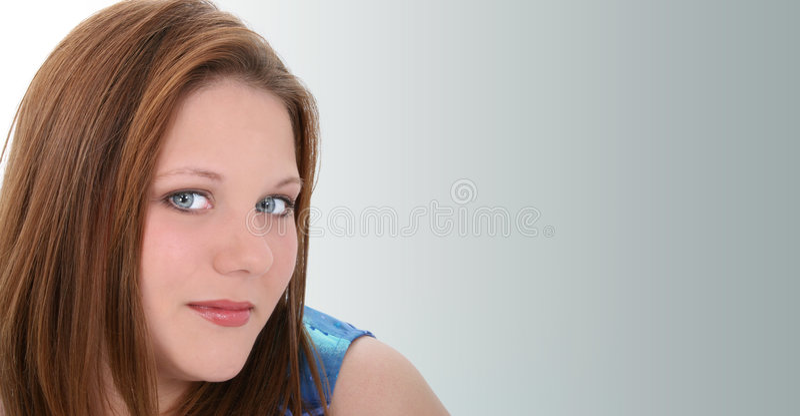 Beautiful Twenty Year Old Young Woman stock photo