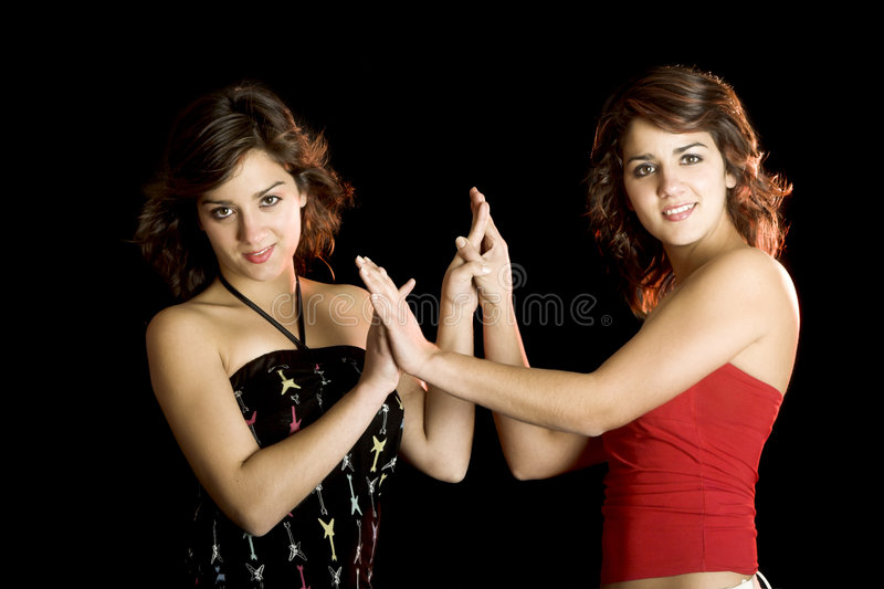 Beautiful twins royalty free stock photography