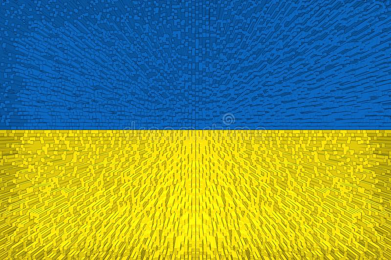 Beautiful Ukrainian flag. Close up royalty free illustration