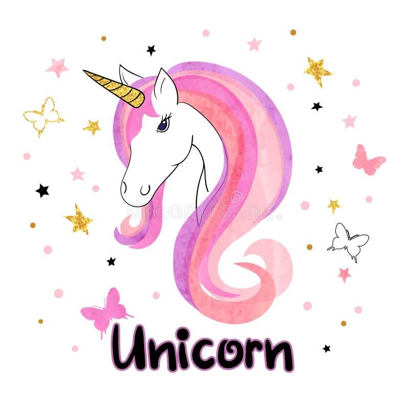 Beautiful unicorn vector illustration. vector illustration