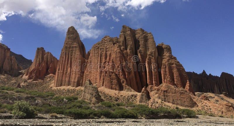Beautiful, unique rock formations, El Sillar, near Tupiza, southern Bolivia royalty free stock photo