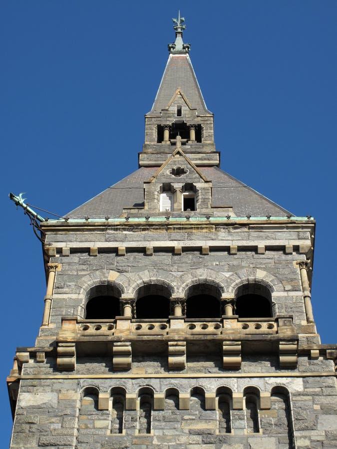 Beautiful University Stone Tower stock images