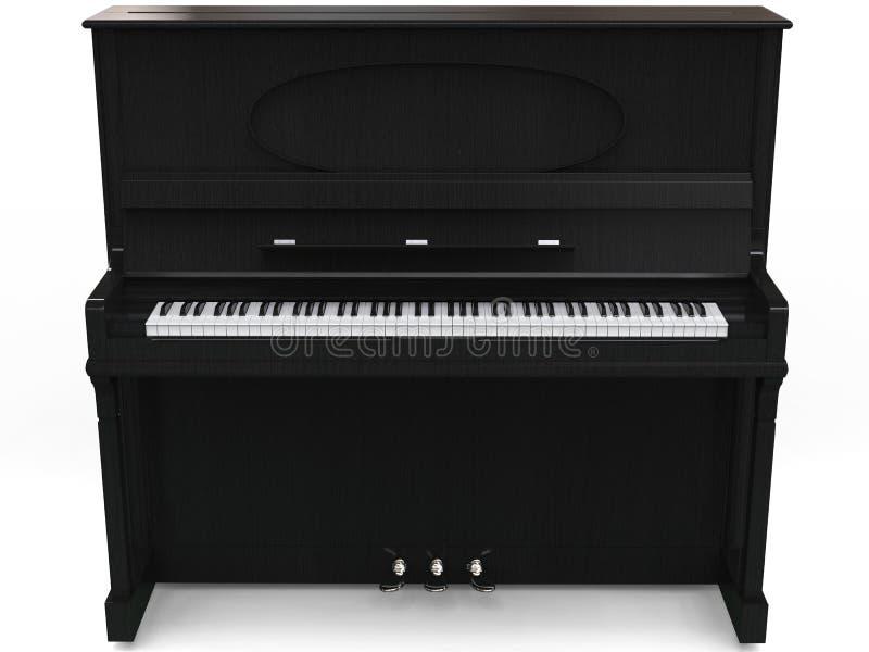 Beautiful upright piano. Isolated on white background stock photography