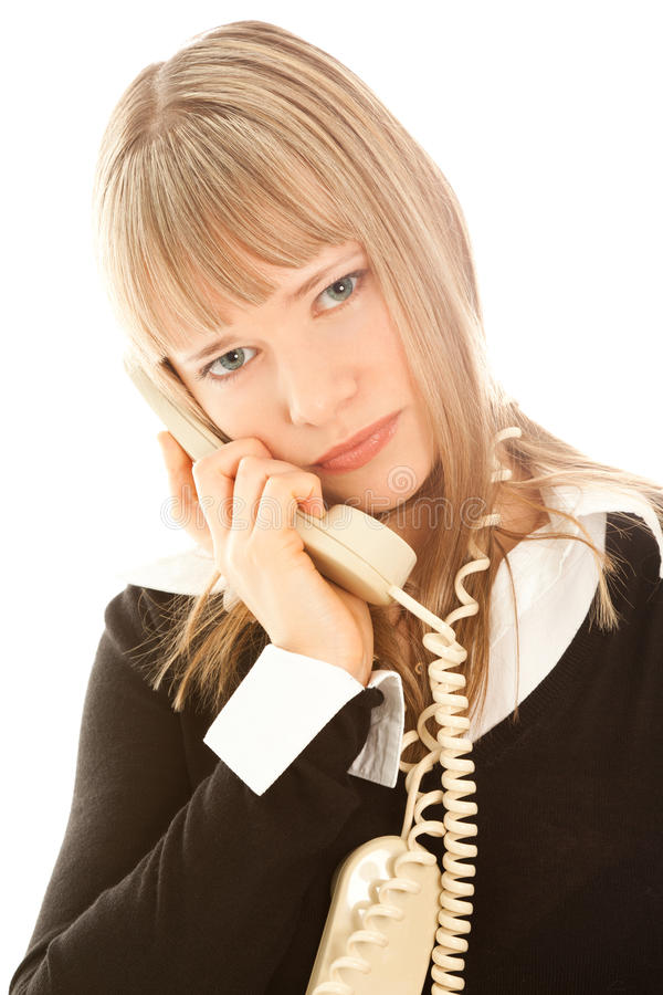 Download Beautiful Upset Businesswoman Calling By Phone Stock Photo - Image: 22771018