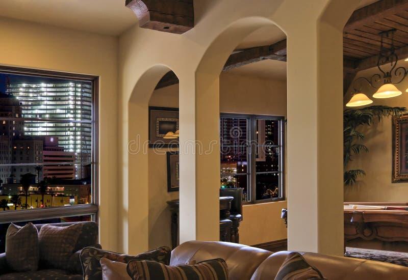 Beautiful uptown luxury loft home stock photo