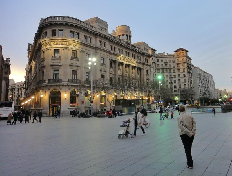 Beautiful urban architecture, Barcelona. Amazing architecture of different styles and times on the streets of Barcelona stock photography