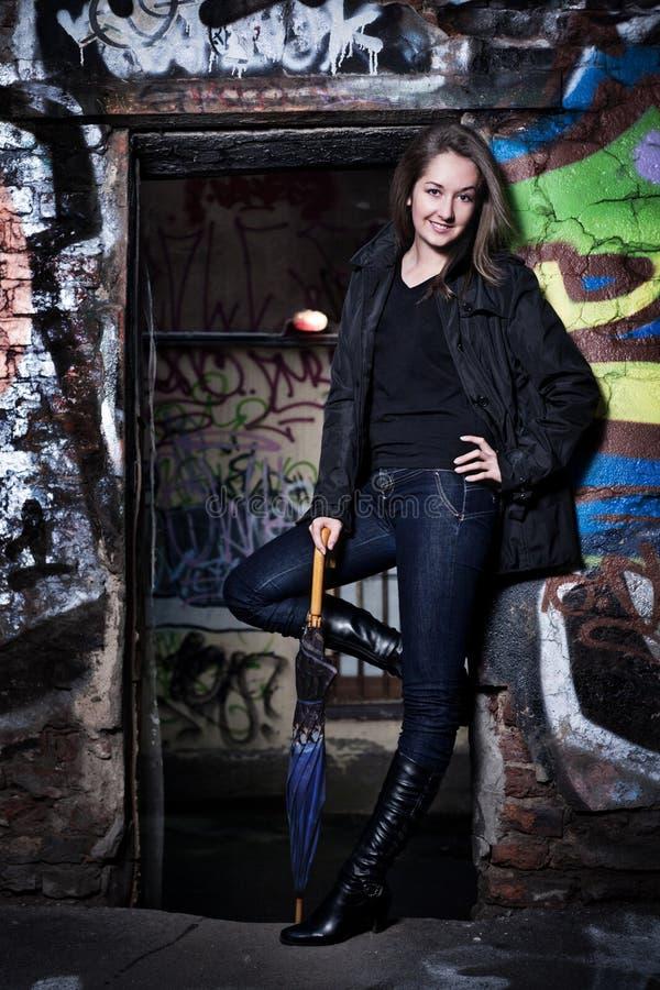 Download Beautiful urban girl stock image. Image of lady, evening - 17503513