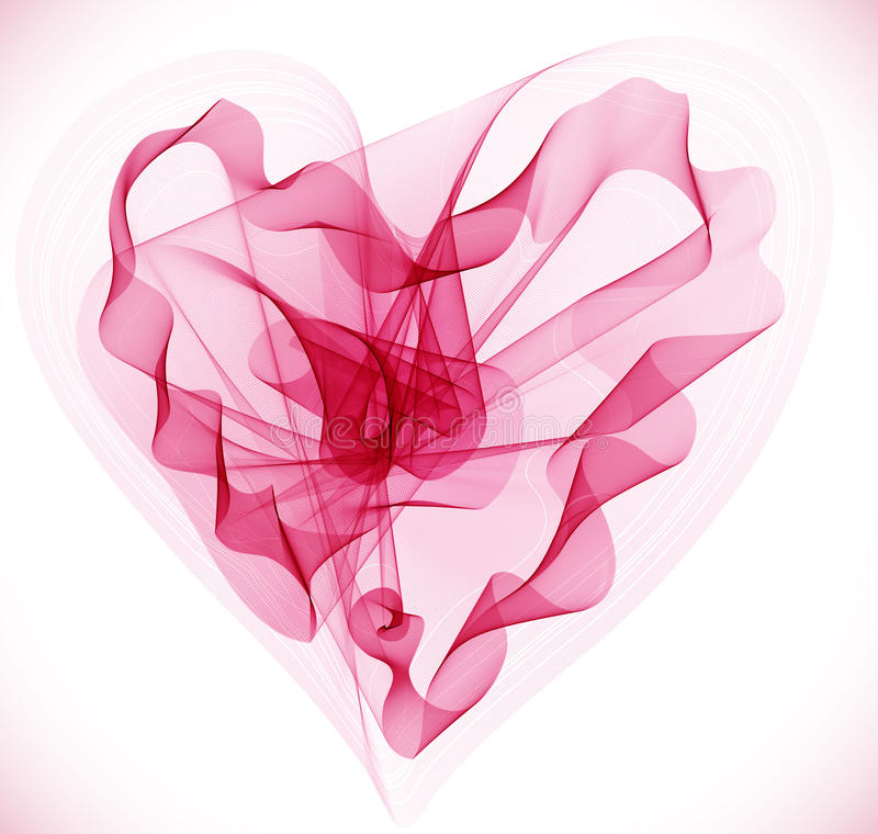 Beautiful Valentine's background. With abstract pink heart, illustration stock illustration