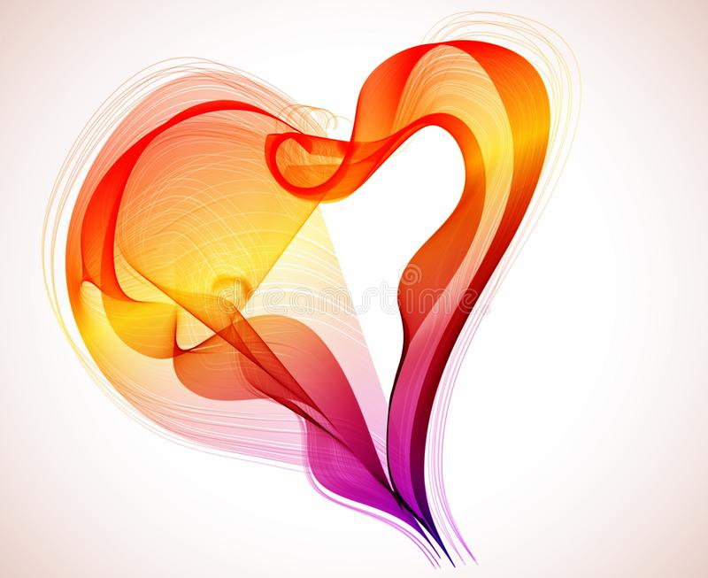 Download Beautiful Valentine's Background With Heart Stock Vector - Image: 27012658