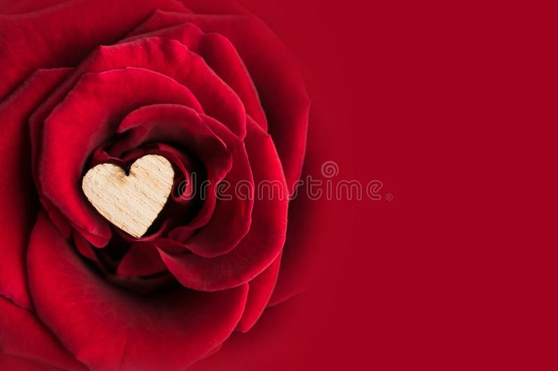 Beautiful Valentine's Day background with close up of small wood royalty free stock photos
