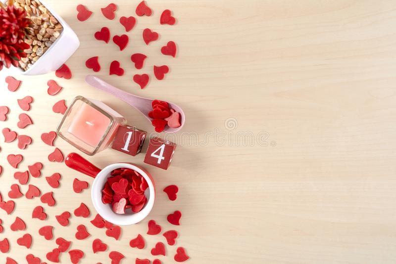 Beautiful Valentine`s day concept with hearts royalty free stock images