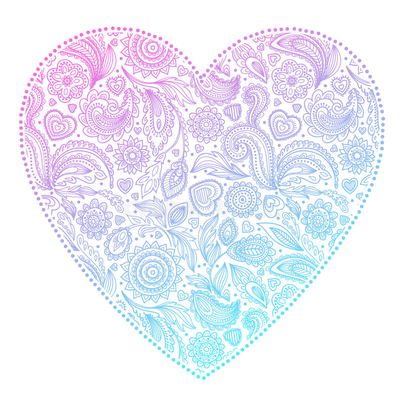 Download Beautiful Valentine's Day Heart Stock Vector - Image: 37040289