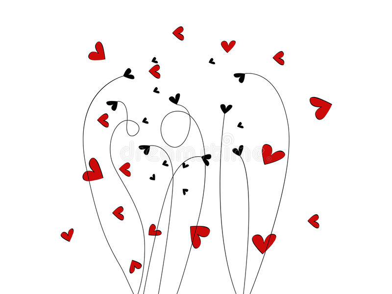 Beautiful Valentine's Day Illustration stock images