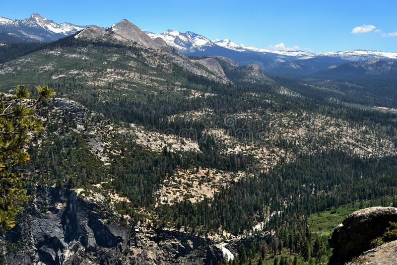 Beautiful valley view from Glacier Point in Yosemite National Park, California royalty free stock photo