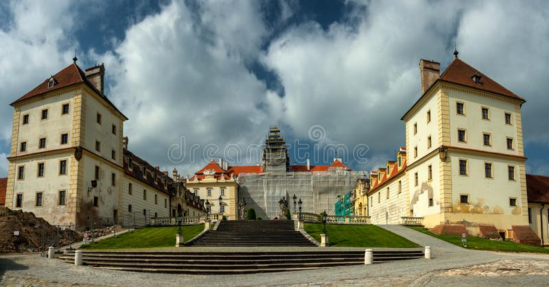 View on  The beautiful Valtice Chateau stock image