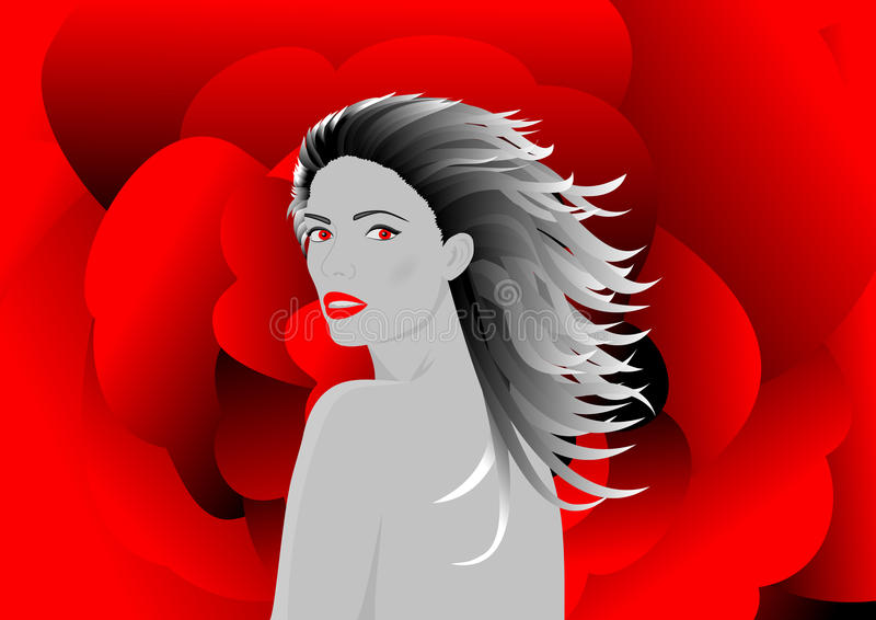 Download Beautiful vampire woman stock vector. Image of eyes, charming - 10938965