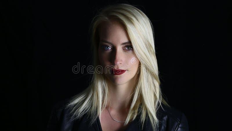 Beautiful vampire woman royalty free stock images