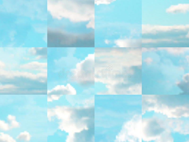Beautiful vector cloudscape. Beautiful cloudscape. EPS 10 vector illustration. Used mesh layers and transparency layers vector illustration