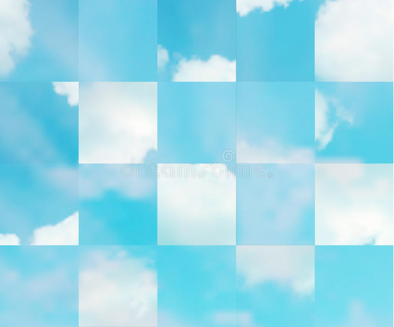 Beautiful vector cloudscape. Beautiful cloudscape. EPS 10 vector illustration. Used mesh layers and transparency layers stock illustration
