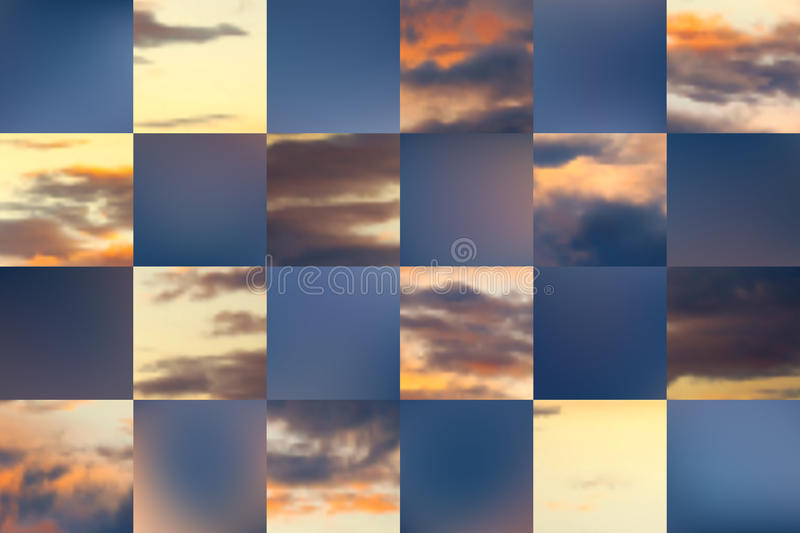 Beautiful vector cloudscape. Beautiful cloudscape. Vector illustration. Used mesh layers royalty free illustration