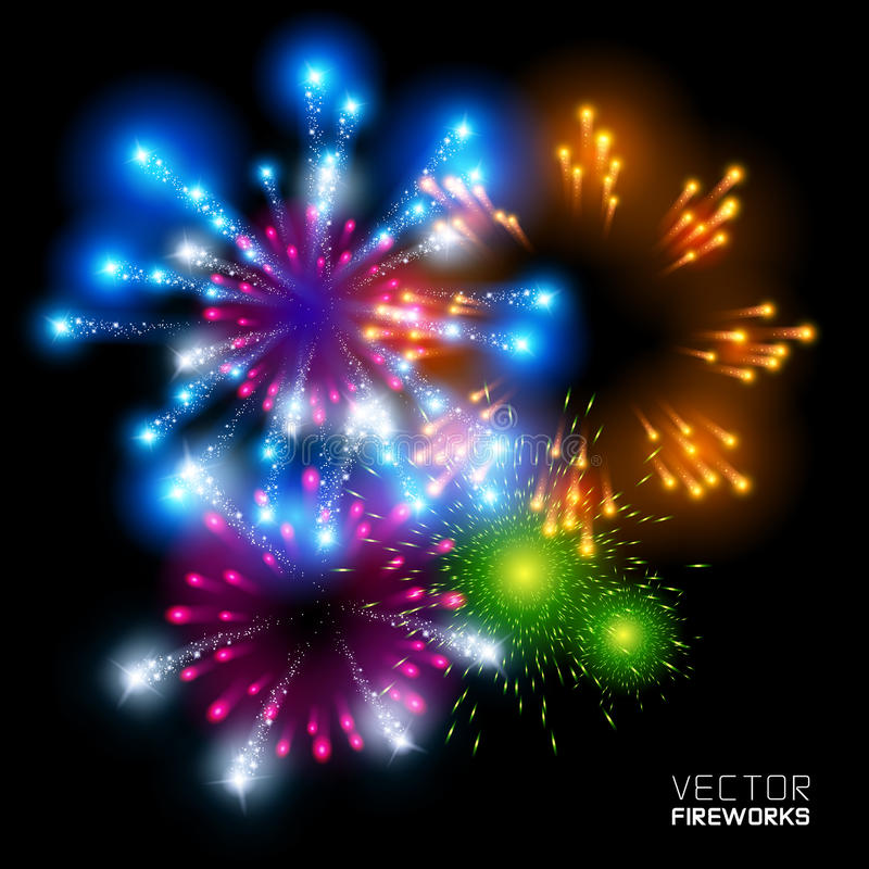 Free Beautiful Vector Fireworks Stock Images - 26272654