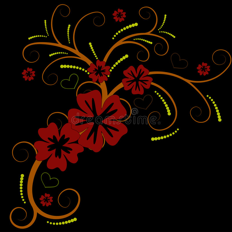Free Beautiful Vector Flower Design Stock Photography - 2715762