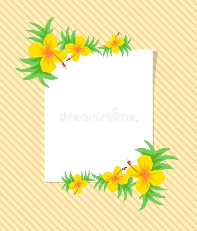 Beautiful vector flower pattern with leaf on white background stock photography