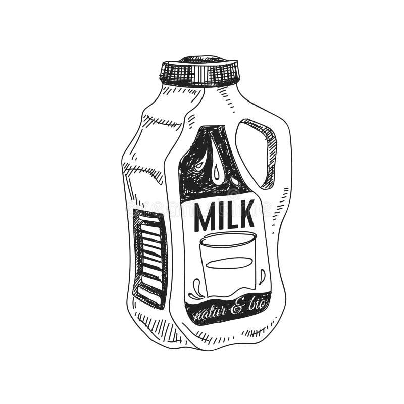 Beautiful vector hand drawn dairy Illustration. vector illustration