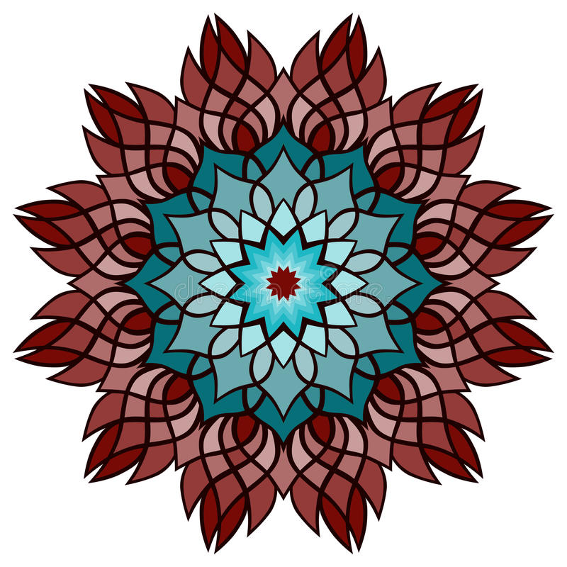 Beautiful vector mandala Flower. Ornamental round floral object. stock images