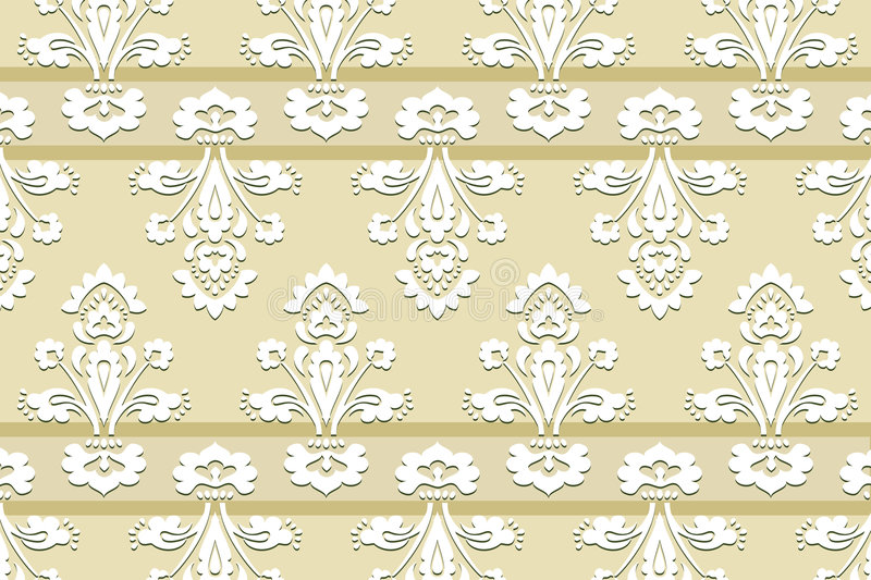 Beautiful vector vintage wallpaper royalty free illustration