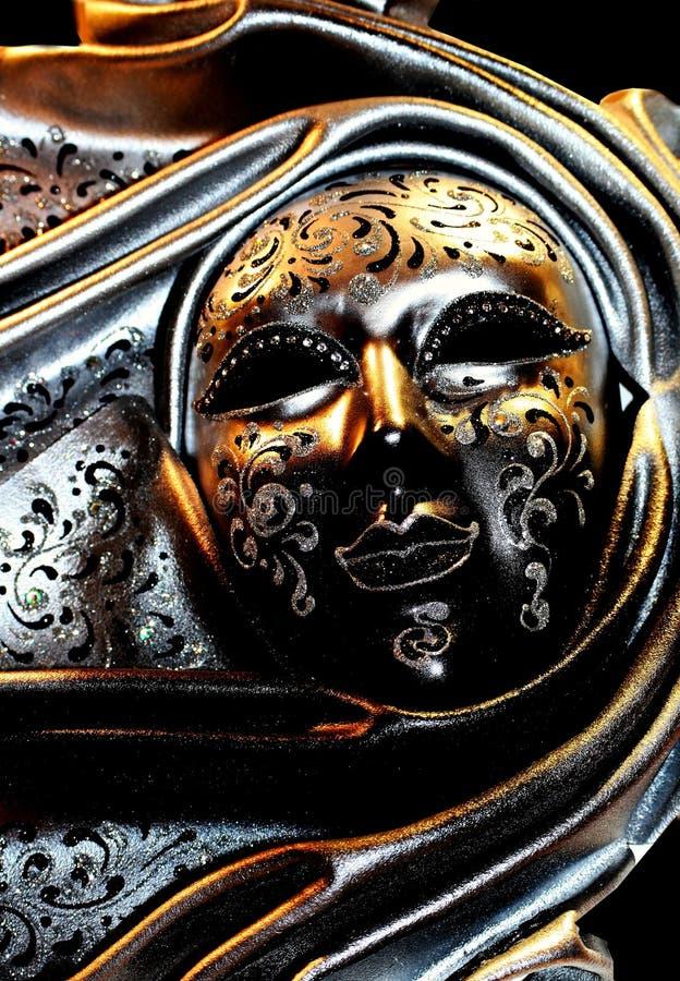 Beautiful Venetian mask. Detail of the Venetian mask