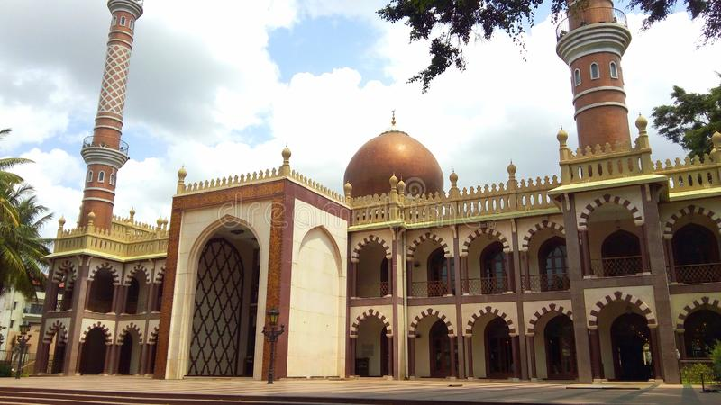 Big mosque masjid in Bangalore. Beautiful and very big masjid in Frazer town at Bangalore royalty free stock photography