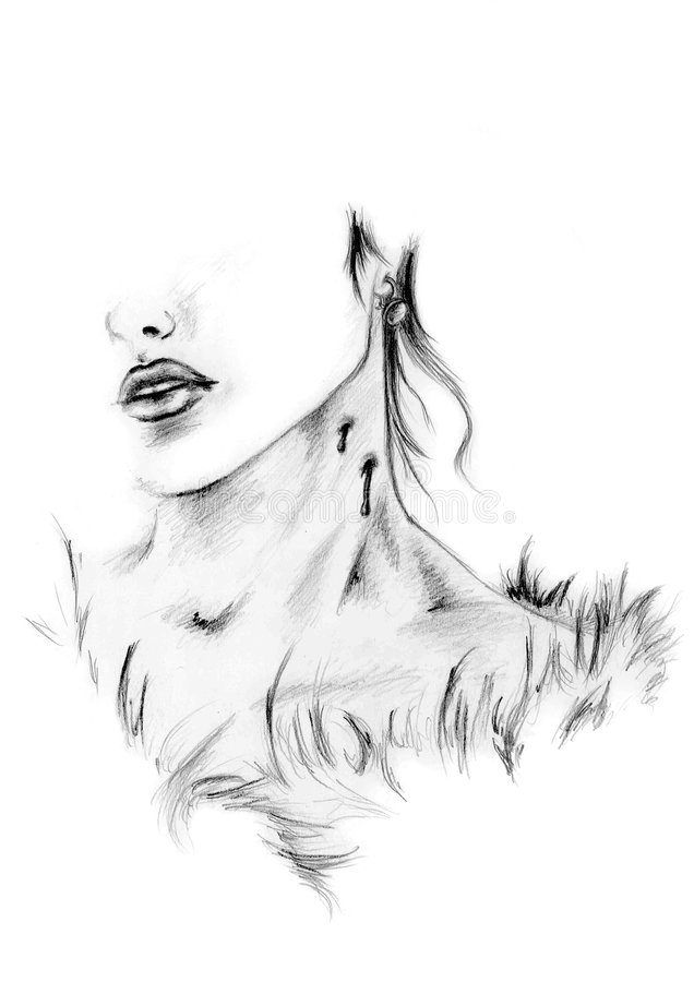 Download Beautiful victim stock illustration. Image of pencil, white - 2311280