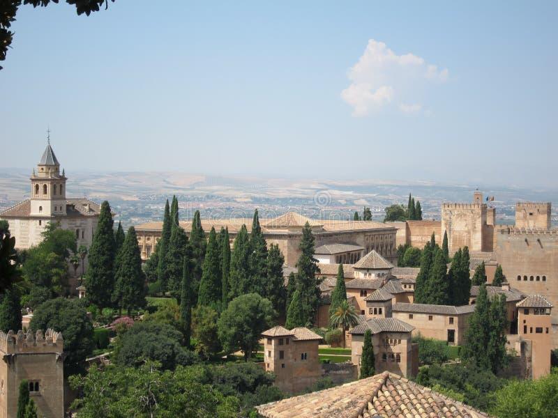 Alhambra at Granada, Spain stock images