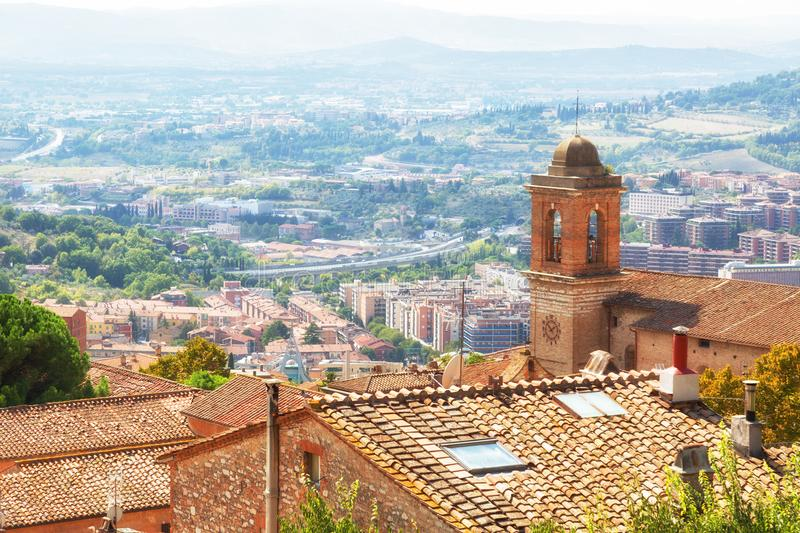 Beautiful view of the ancient city of Perugia stock photography