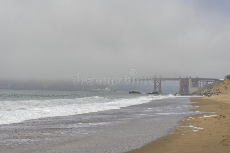 Beautiful view of Baker Beach in San Francisco stock photo
