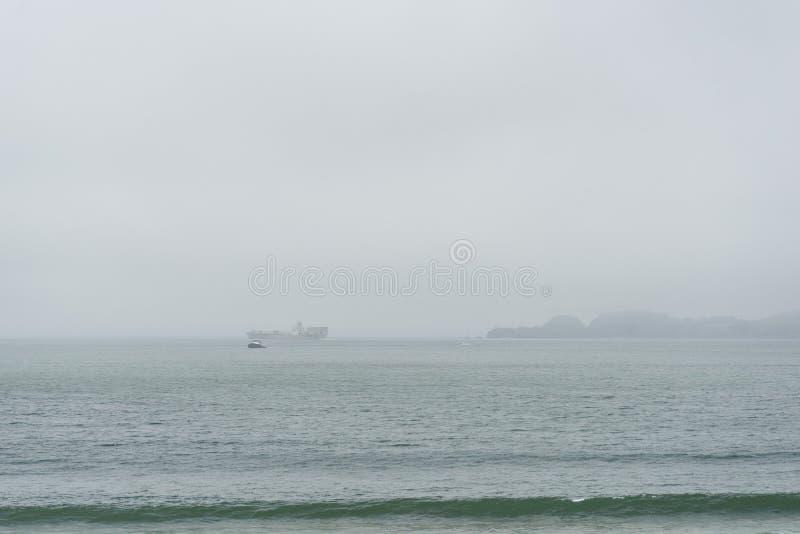 Beautiful view of Baker Beach in San Francisco stock photos